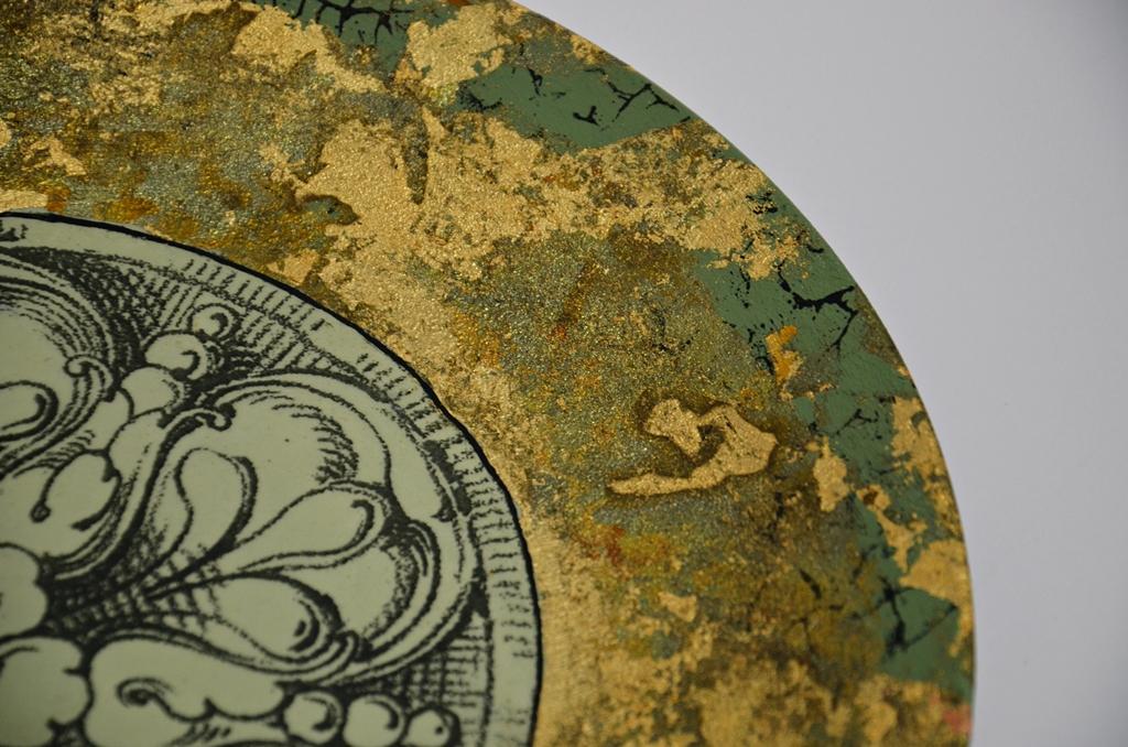 arthobbystudio lublin0018warsztaty patera barokowa mixmedia decoupage transfer zlocenia patynowanie spekania zofia szewczyk
