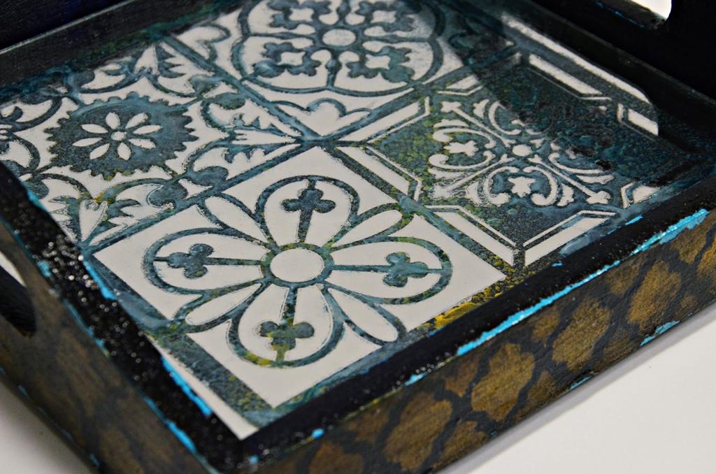 arthobbystudio lublin0020warsztaty taca mixmedia decoupage taca marokanska mozaika 1