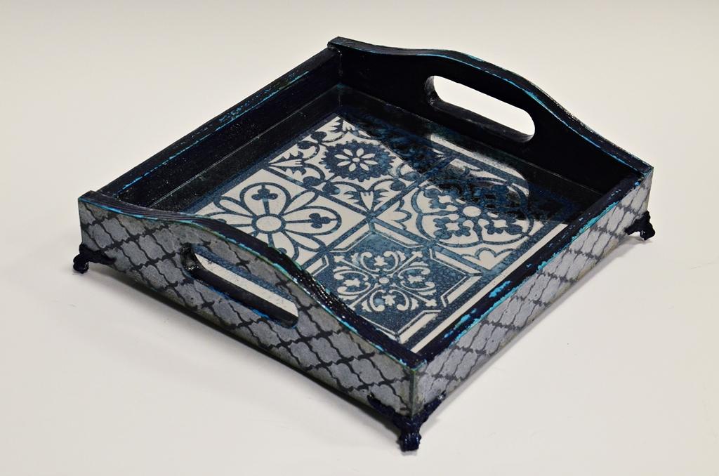 arthobbystudio lublin0021warsztaty taca mixmedia decoupage taca marokanska mozaika 1