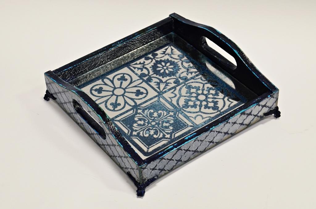 arthobbystudio lublin0022warsztaty taca mixmedia decoupage taca marokanska mozaika 1