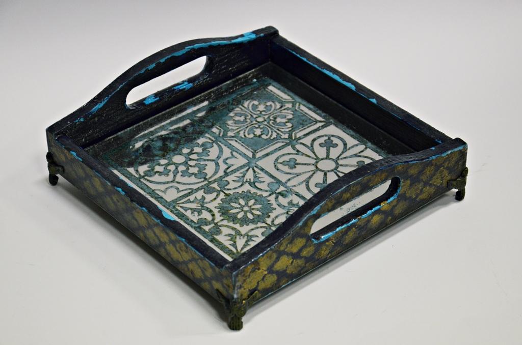 arthobbystudio lublin0024warsztaty taca mixmedia decoupage taca marokanska mozaika