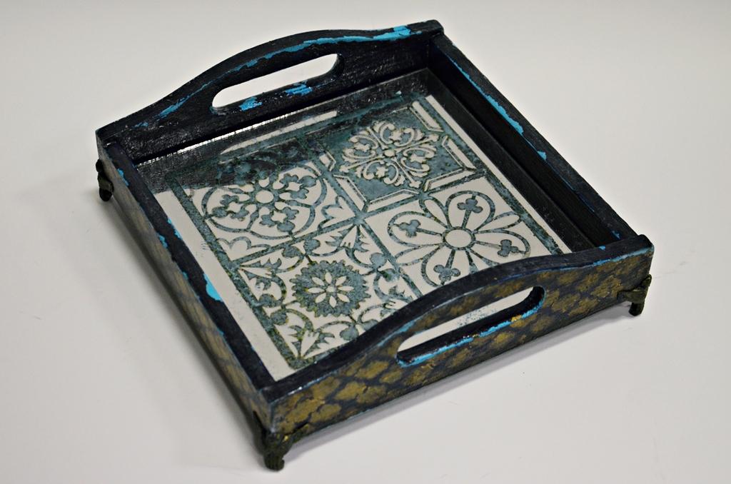 arthobbystudio lublin0025warsztaty taca mixmedia decoupage taca marokanska mozaika