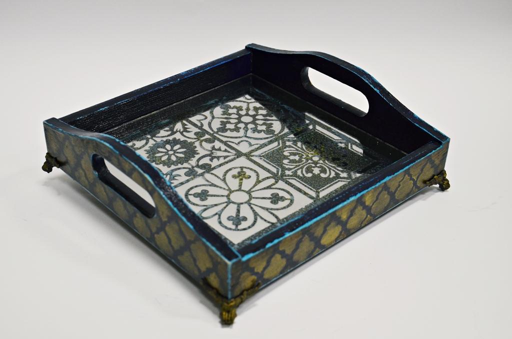 arthobbystudio lublin0026warsztaty taca mixmedia decoupage taca marokanska mozaika