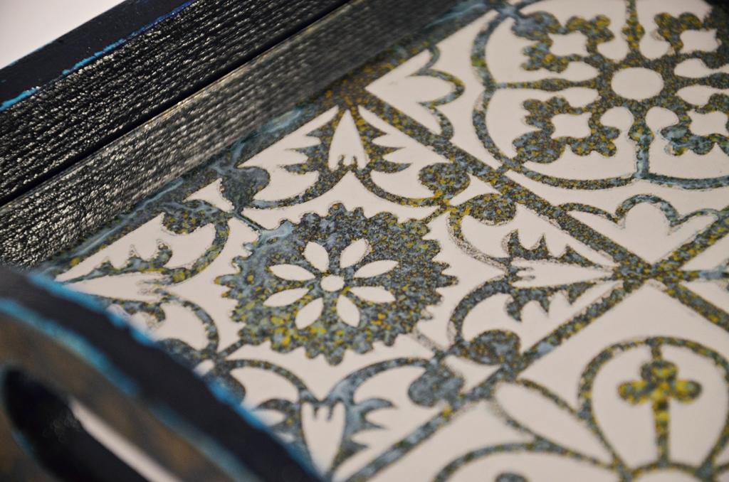 arthobbystudio lublin0027warsztaty taca mixmedia decoupage taca marokanska mozaika