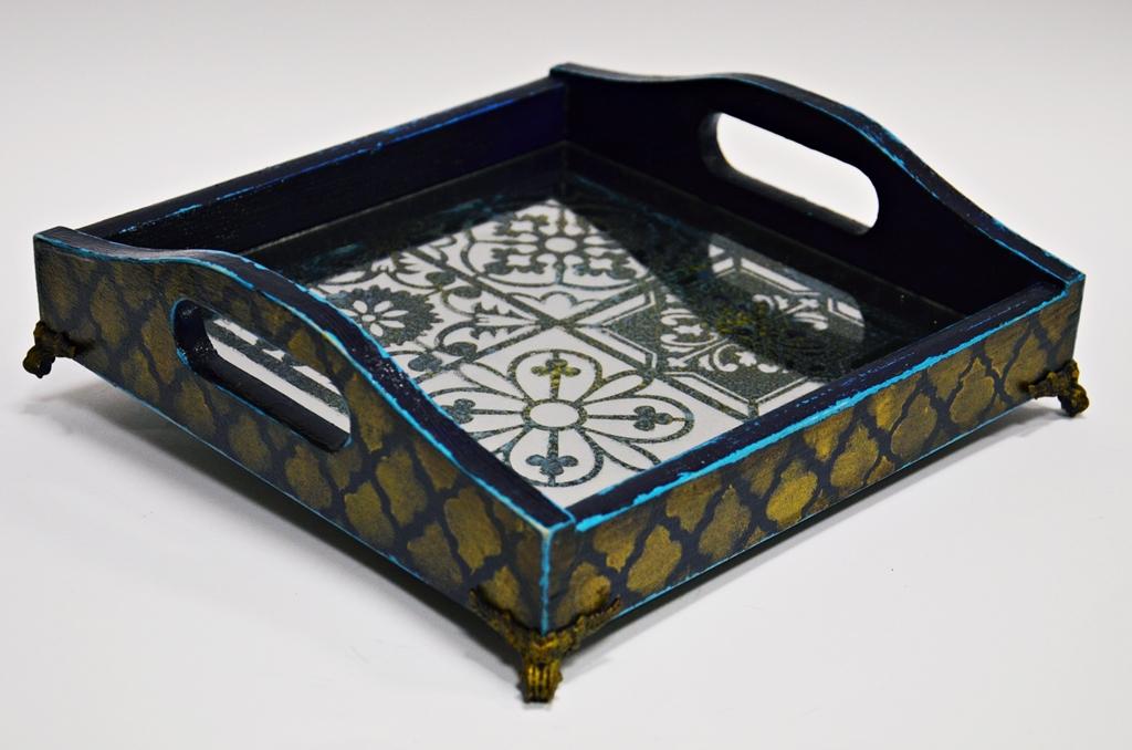 arthobbystudio lublin0028warsztaty taca mixmedia decoupage taca marokanska mozaika