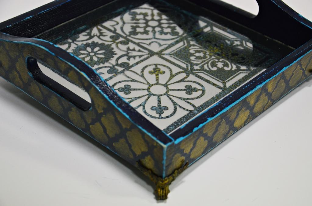 arthobbystudio lublin0031warsztaty taca mixmedia decoupage taca marokanska mozaika
