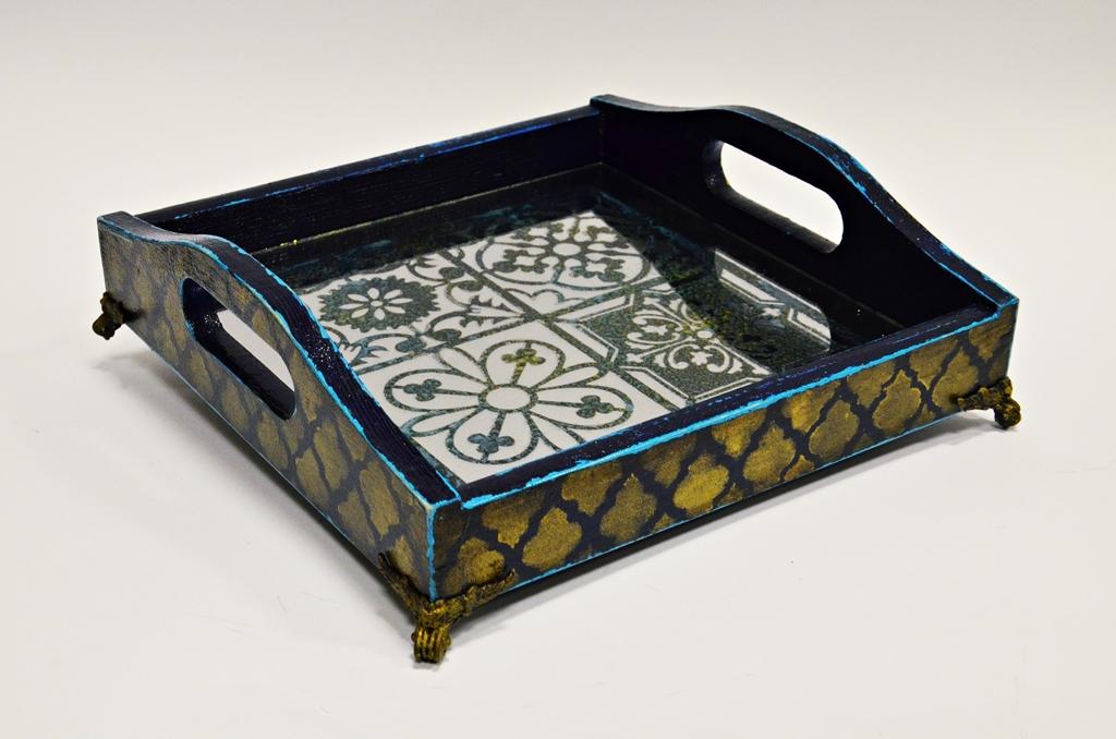 arthobbystudio lublin0033warsztaty taca mixmedia decoupage taca marokanska mozaika
