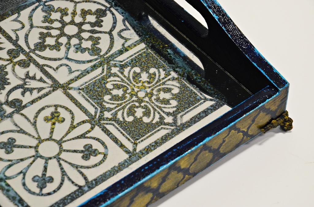 arthobbystudio lublin0035warsztaty taca mixmedia decoupage taca marokanska mozaika