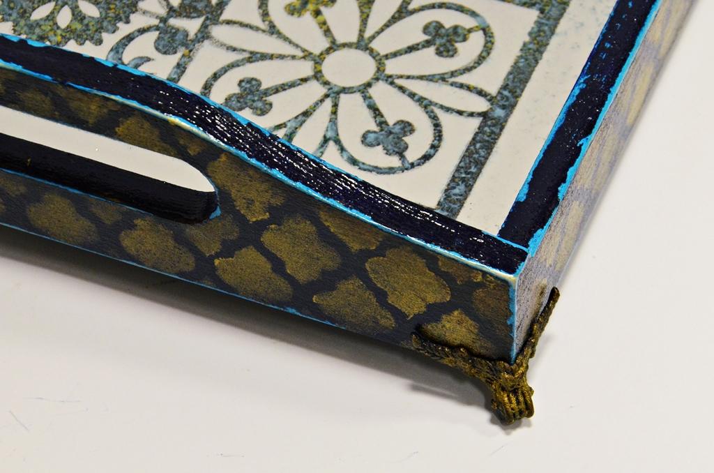 arthobbystudio lublin0036warsztaty taca mixmedia decoupage taca marokanska mozaika