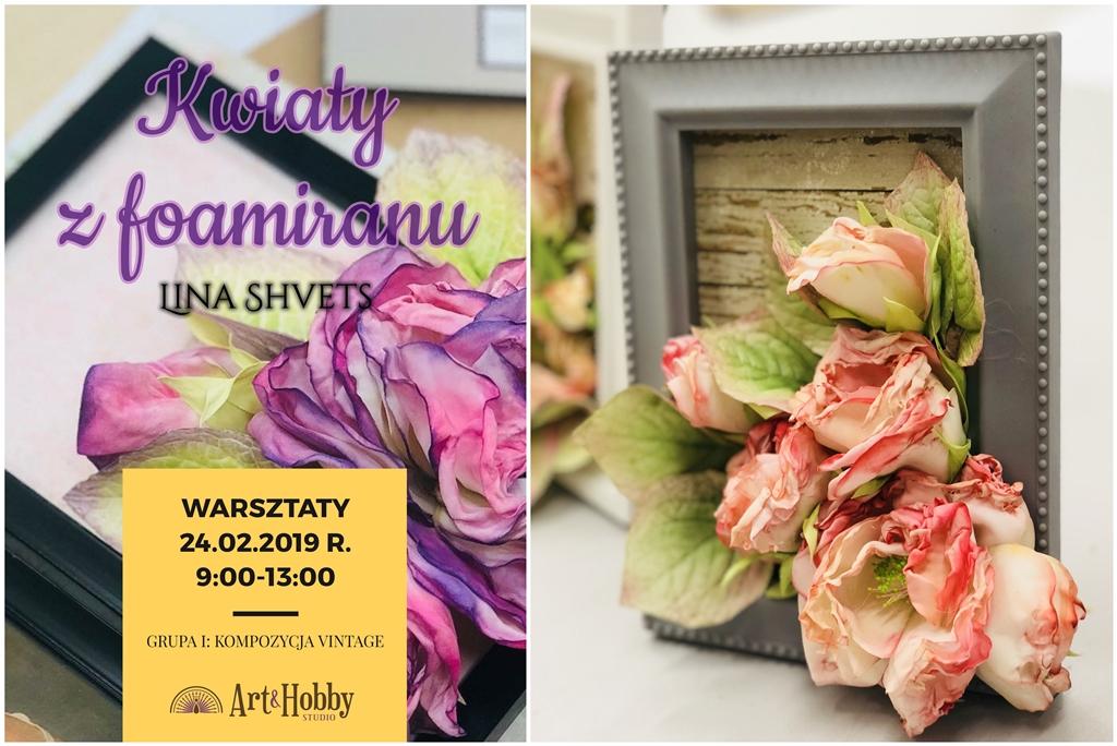 arthobbystudio warsztaty lublin foamiran kwiaty