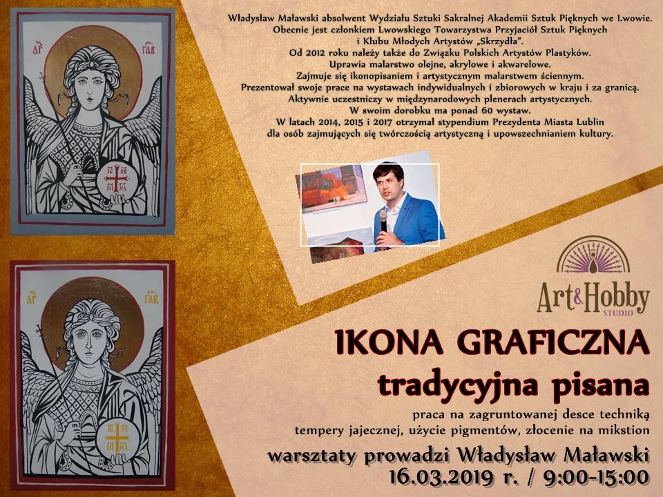 plakat ikona wladyslwa malawski arthobbystudio lublin warsztaty