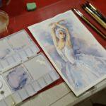 arthobbystudio lublin0015warsztaty akwarela akwarele farby akwarelowe malarstwo baletnica 150x150