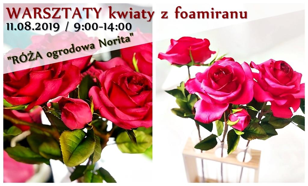 arthobbystudio warsztaty roza foamiran blog