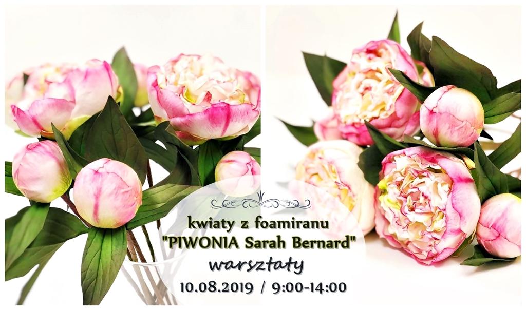 piwonie arthobbystudio lublin warsztaty kwiaty z foamiranu blog