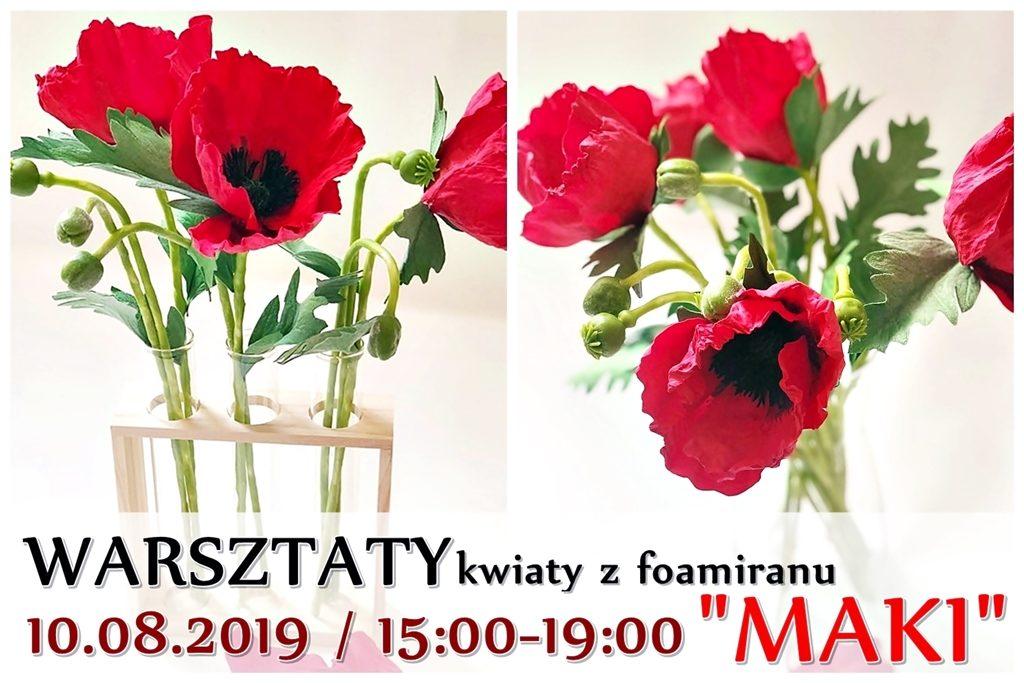plakat warsztaty arthobbystudio lublin kwiaty z foamiranu blog 1024x683