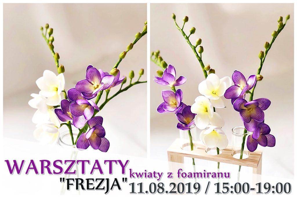 warsztaty arthobbystudio lublin kwiaty z foamiranu frezja blog 1024x683