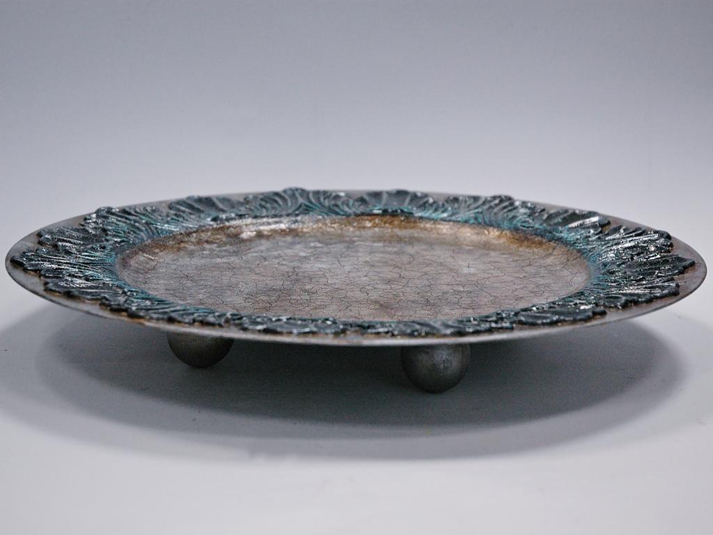 arthobbystudio lublin0016warsztaty patera talerz efekt antyczne srebro ornamenty dekoracja dekoracyjna zofia szewczyk