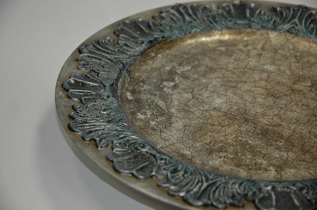 arthobbystudio lublin0019warsztaty patera talerz efekt antyczne srebro ornamenty dekoracja dekoracyjna zofia szewczyk