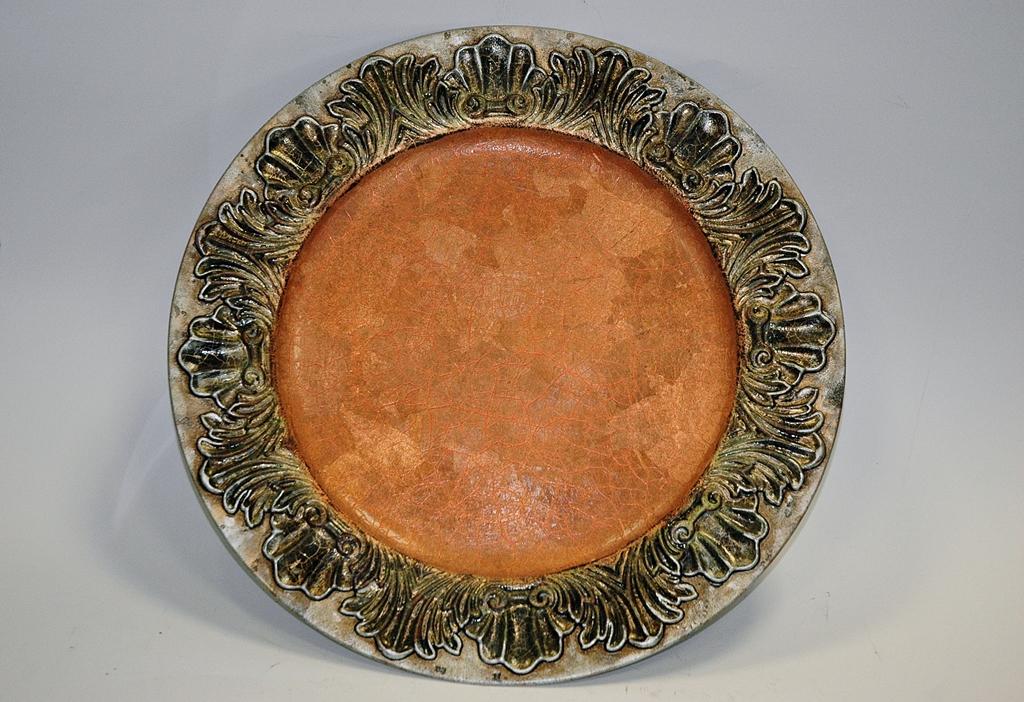 arthobbystudio lublin0032warsztaty patera talerz efekt antyczne srebro ornamenty dekoracja dekoracyjna zofia szewczyk
