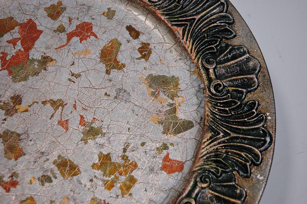 arthobbystudio lublin0042warsztaty patera talerz efekt antyczne srebro ornamenty dekoracja dekoracyjna zofia szewczyk