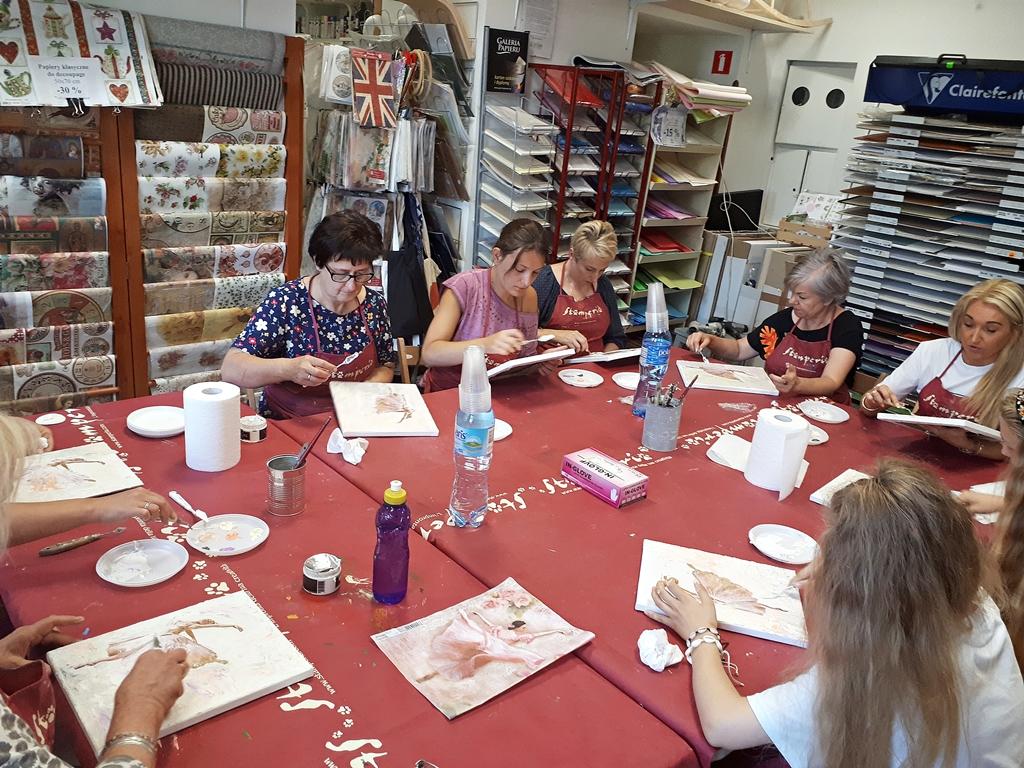 arthobbystudio lublin0002warsztaty obraz na plotnie baletnica malarstwo szpachelkowe cieniowania