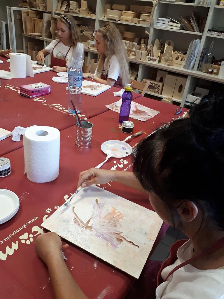 arthobbystudio lublin0003warsztaty obraz na plotnie baletnica malarstwo szpachelkowe cieniowania