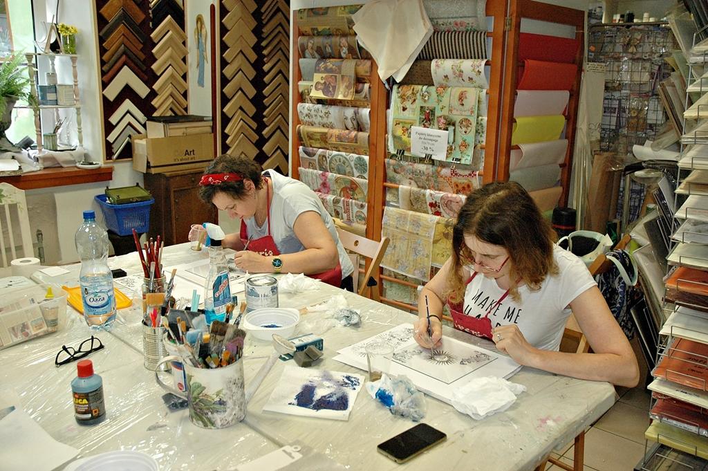arthobbystudio lublin0005warsztaty taca astrella efekt lustra mixmedia decoupage