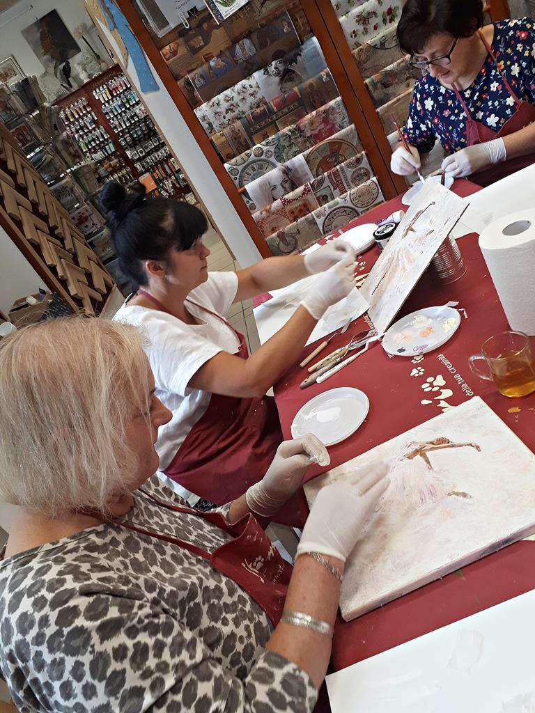 arthobbystudio lublin0009warsztaty obraz na plotnie baletnica malarstwo szpachelkowe cieniowania