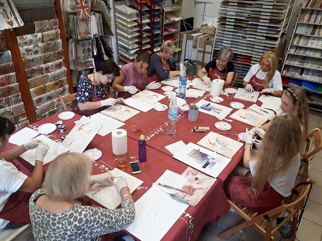 arthobbystudio lublin0010warsztaty obraz na plotnie baletnica malarstwo szpachelkowe cieniowania