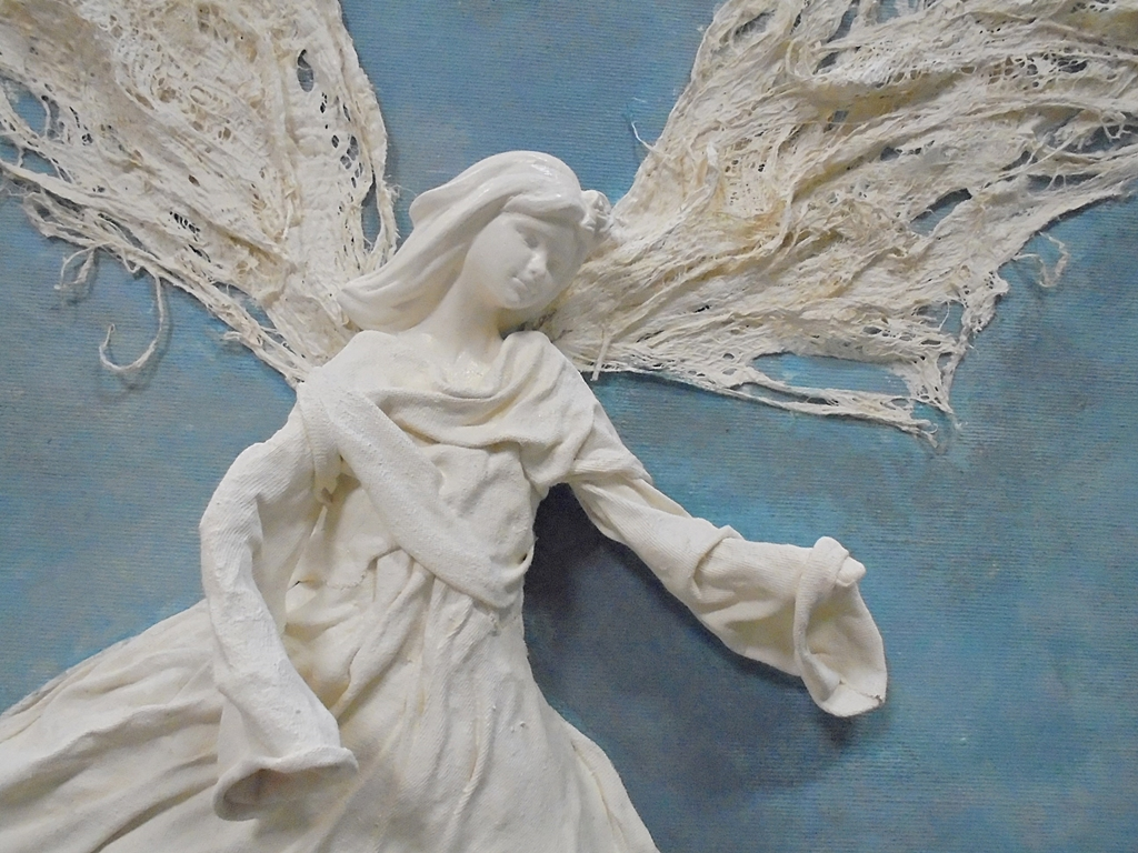 arthobbystudio lublin0011warsztaty powertex aniol na blejtramie