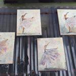 arthobbystudio lublin0013warsztaty obraz na plotnie baletnica malarstwo szpachelkowe cieniowania 150x150