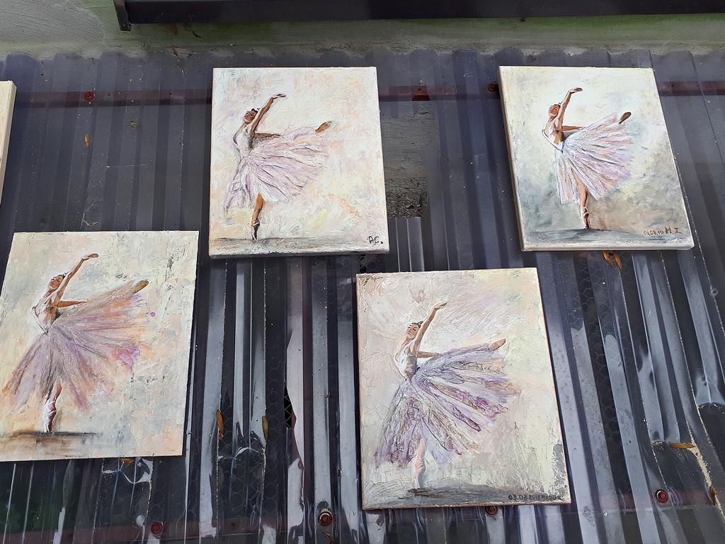 arthobbystudio lublin0013warsztaty obraz na plotnie baletnica malarstwo szpachelkowe cieniowania