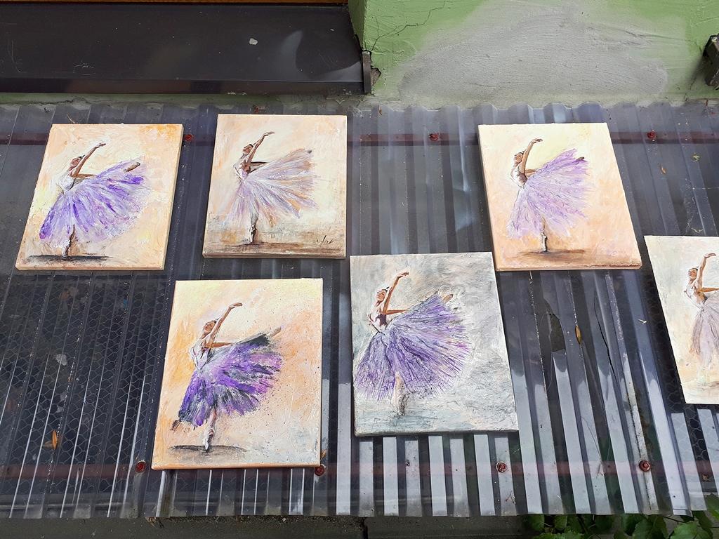 arthobbystudio lublin0014warsztaty obraz na plotnie baletnica malarstwo szpachelkowe cieniowania