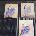 arthobbystudio lublin0015warsztaty obraz na plotnie baletnica malarstwo szpachelkowe cieniowania 150x150
