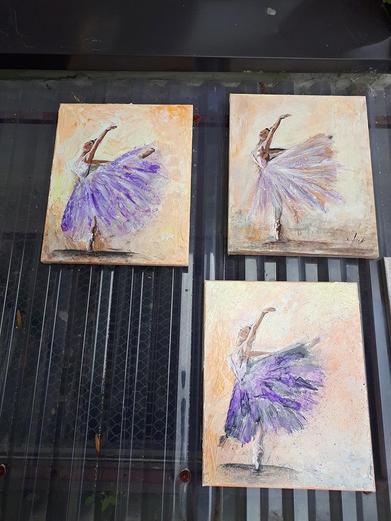 arthobbystudio lublin0015warsztaty obraz na plotnie baletnica malarstwo szpachelkowe cieniowania