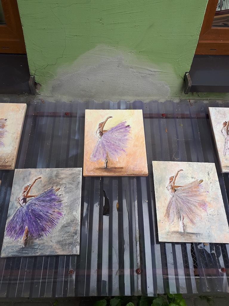 arthobbystudio lublin0016warsztaty obraz na plotnie baletnica malarstwo szpachelkowe cieniowania