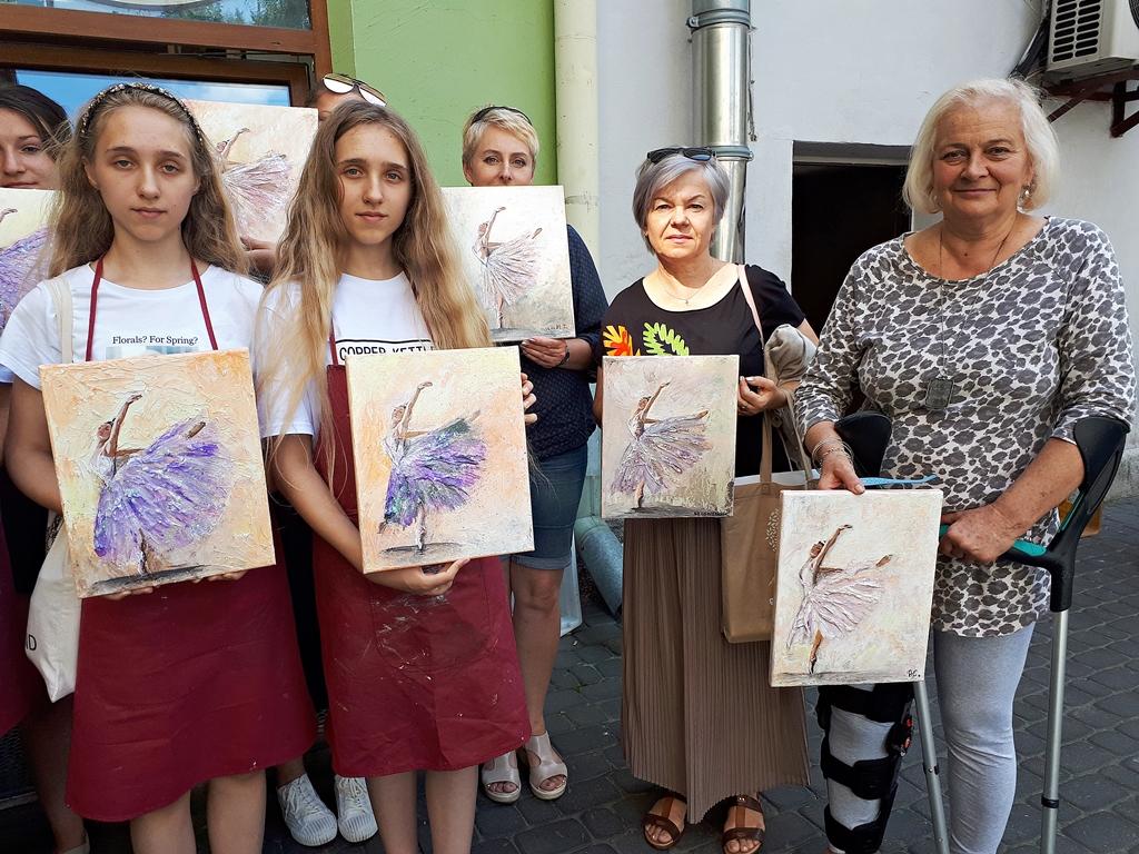 arthobbystudio lublin0019warsztaty obraz na plotnie baletnica malarstwo szpachelkowe cieniowania