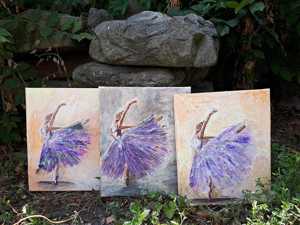 arthobbystudio lublin0020warsztaty obraz na plotnie baletnica malarstwo szpachelkowe cieniowania
