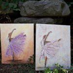 arthobbystudio lublin0021warsztaty obraz na plotnie baletnica malarstwo szpachelkowe cieniowania 150x150