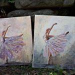 arthobbystudio lublin0022warsztaty obraz na plotnie baletnica malarstwo szpachelkowe cieniowania 150x150