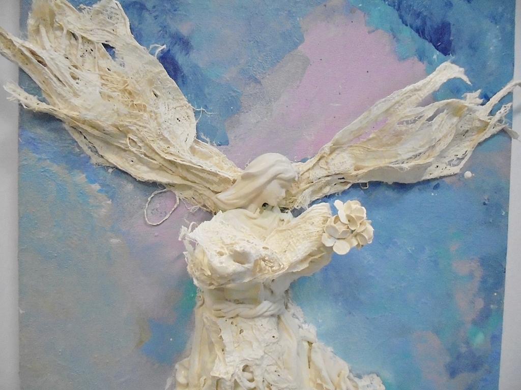 arthobbystudio lublin0022warsztaty powertex aniol na blejtramie