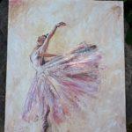 arthobbystudio lublin0023warsztaty obraz na plotnie baletnica malarstwo szpachelkowe cieniowania 150x150