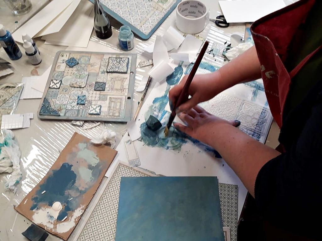 arthobbystudio lublin0007warsztaty scrap scrapbooking album azulejo
