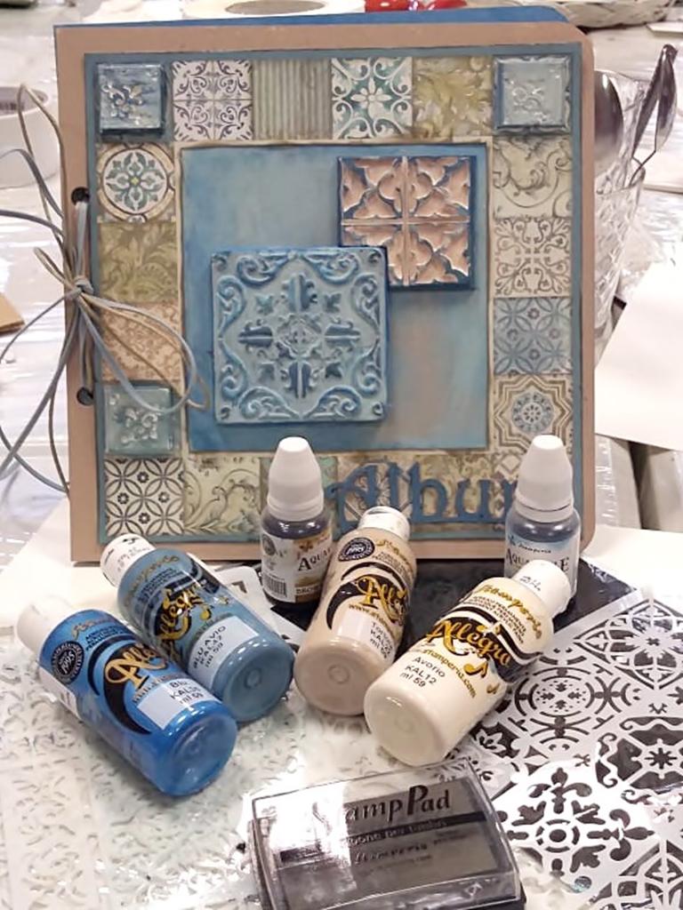 arthobbystudio lublin0008warsztaty scrap scrapbooking album azulejo