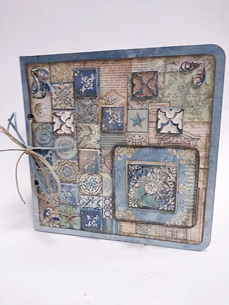 arthobbystudio lublin0017warsztaty scrap scrapbooking album azulejo