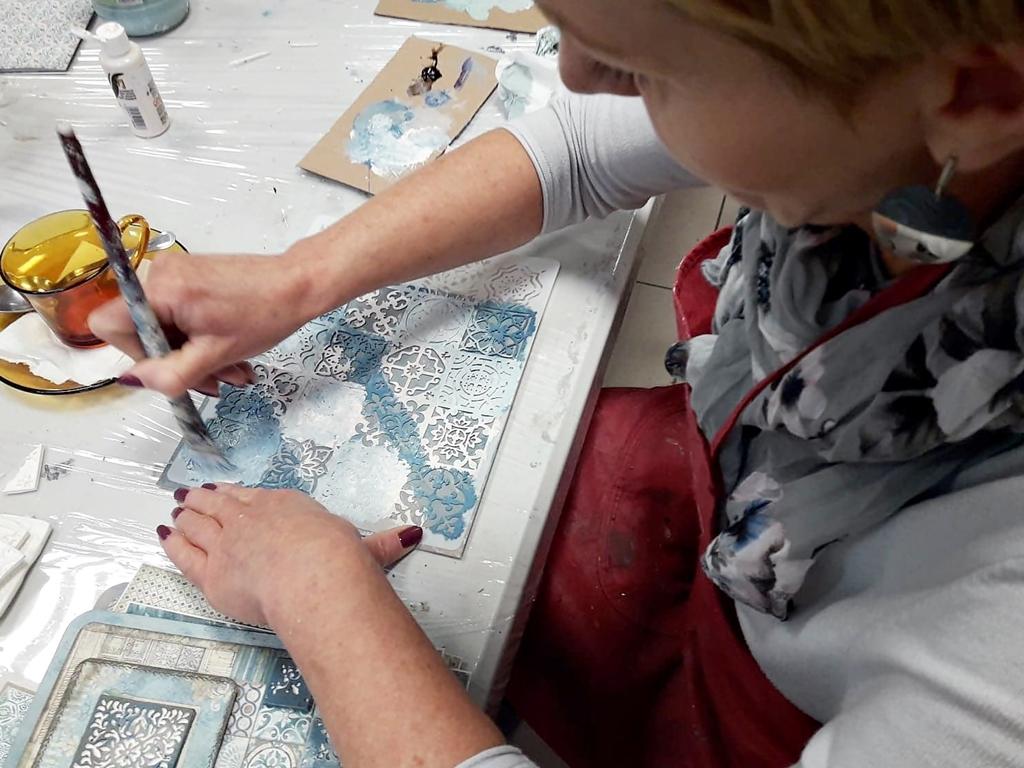 arthobbystudio lublin0032warsztaty scrap scrapbooking album azulejo