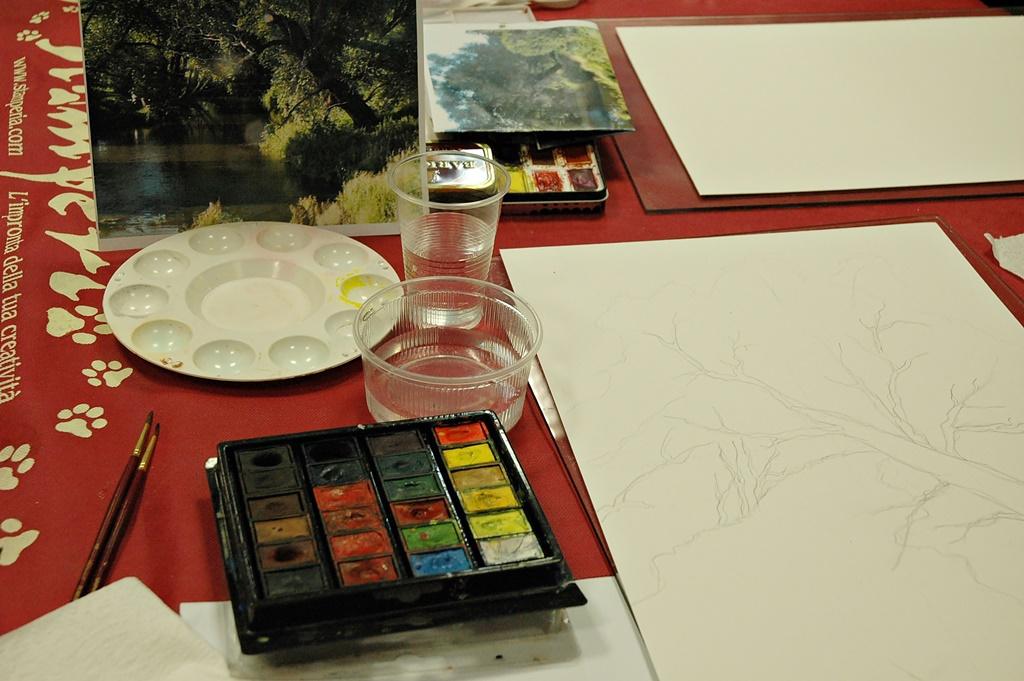 arthobbystudio warsztaty009 20191202akwarela tatiana majewska krajobraz nad woda
