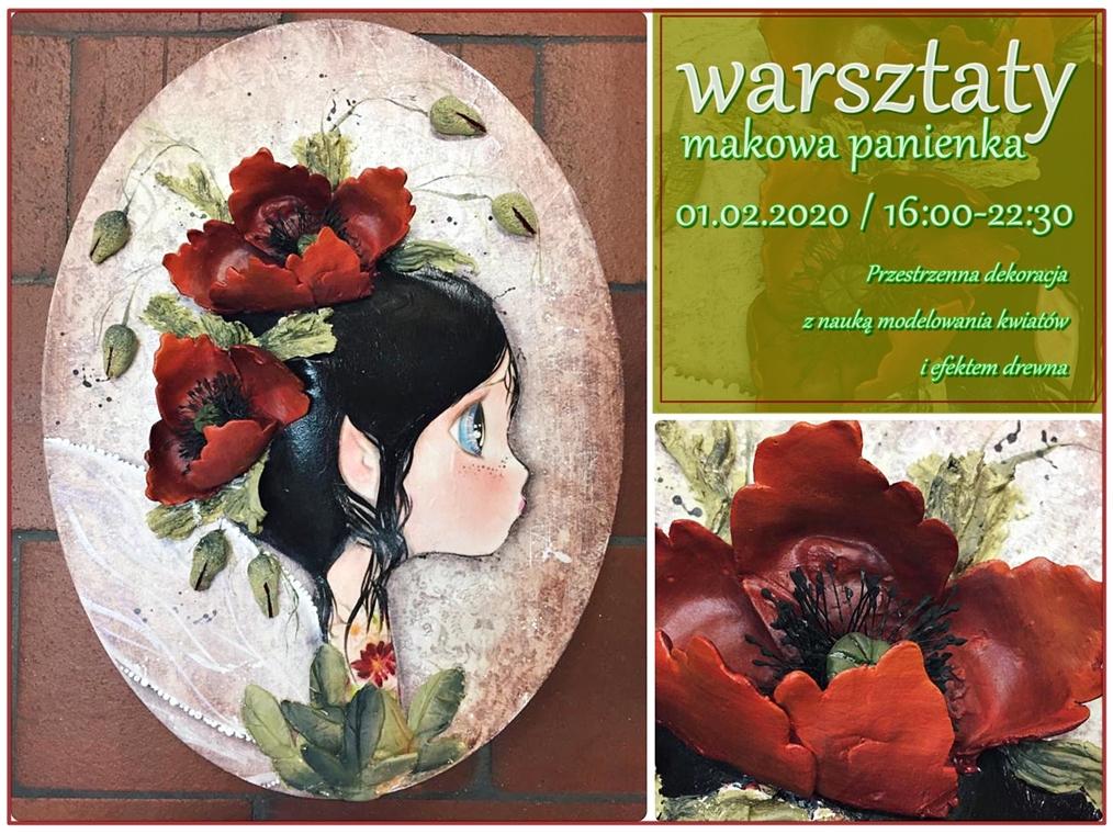 Makowa Panienka Beta Wośkowiat ArtHobbyStudio SztukaZdobienia