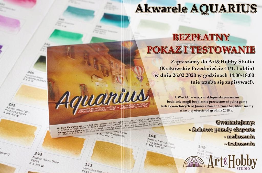 aquarius roman szmal pokaz bezplatny lublin arthobbystudio plakat