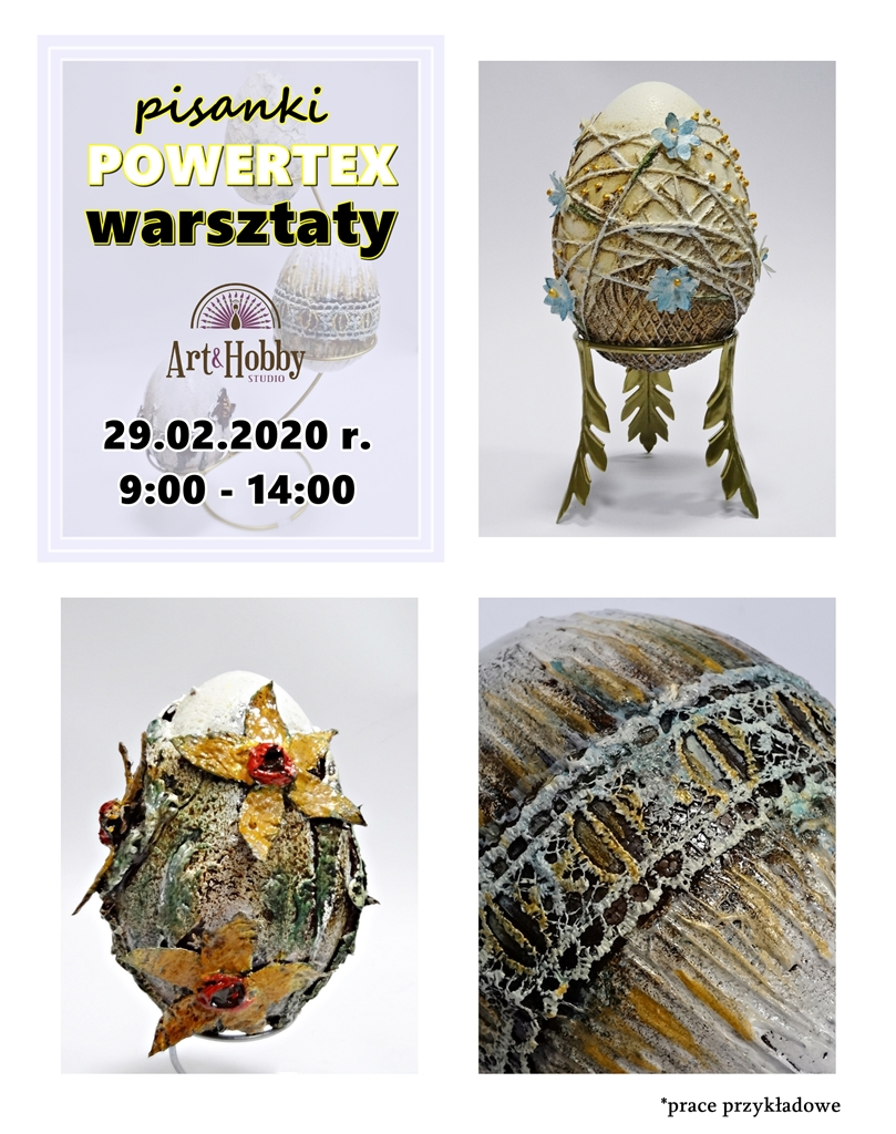 arthobbystudio warsztaty pisanka powertex blog